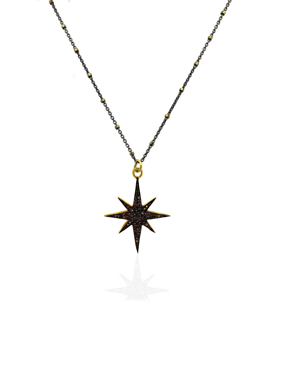 Tiny Starburst Diamond Necklace