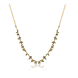 Dancing Pyrite Chain Necklace
