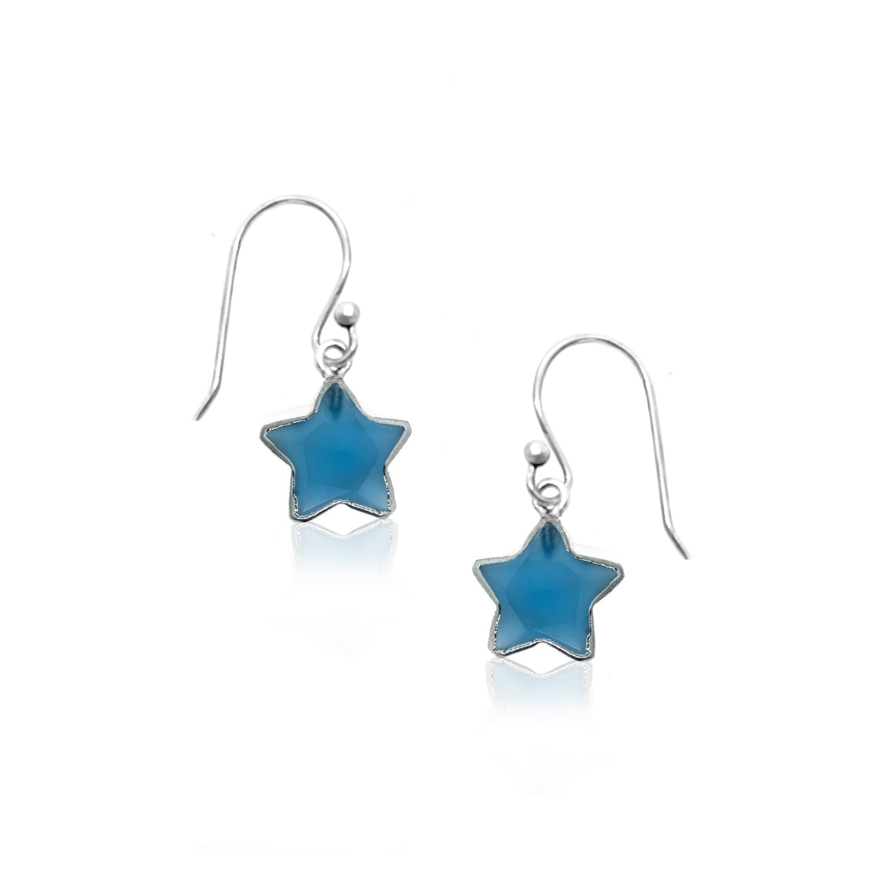 You Are A Star-Chalcedony Silver Earrings