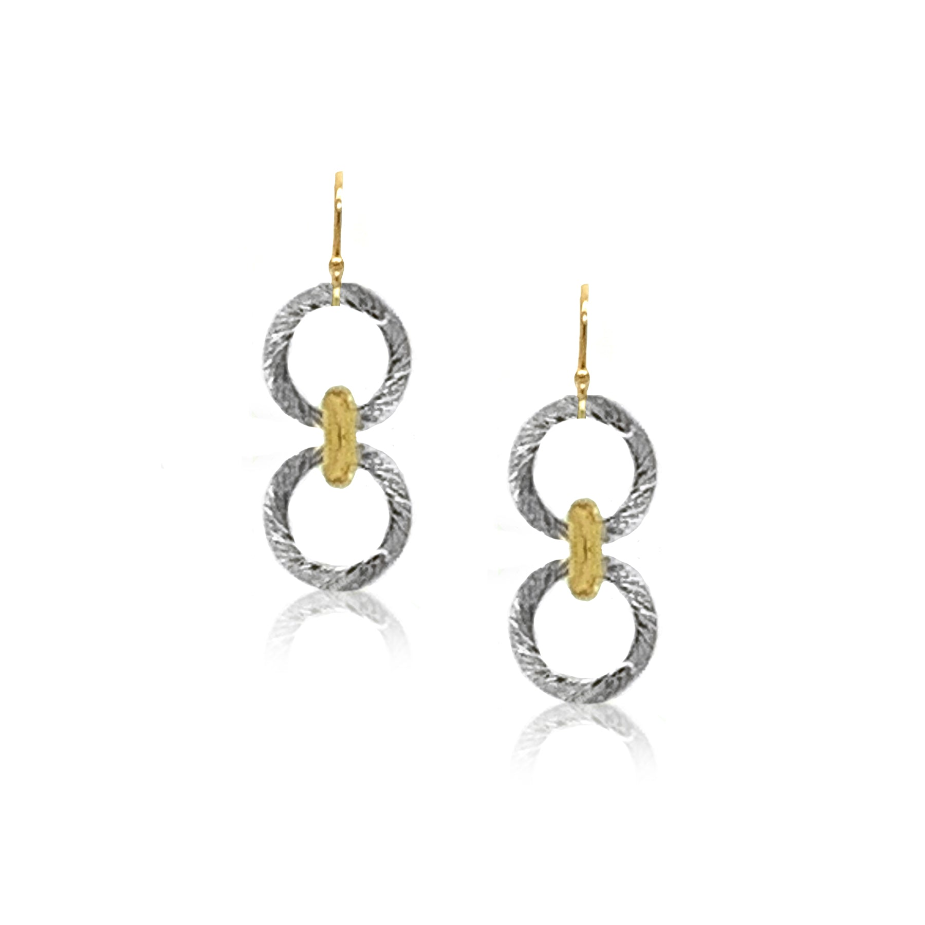 Small Connection Earring- Silver/Gold
