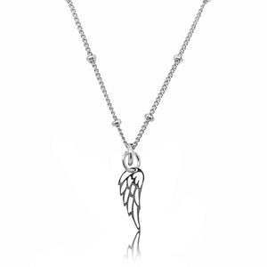 Angel Wing Charm- Silver
