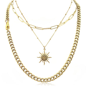 Sunny Days Ahead Layered Necklace Set -Gold-filled