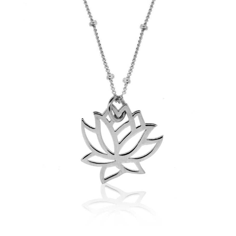 Charms -Silver Lotus Necklace