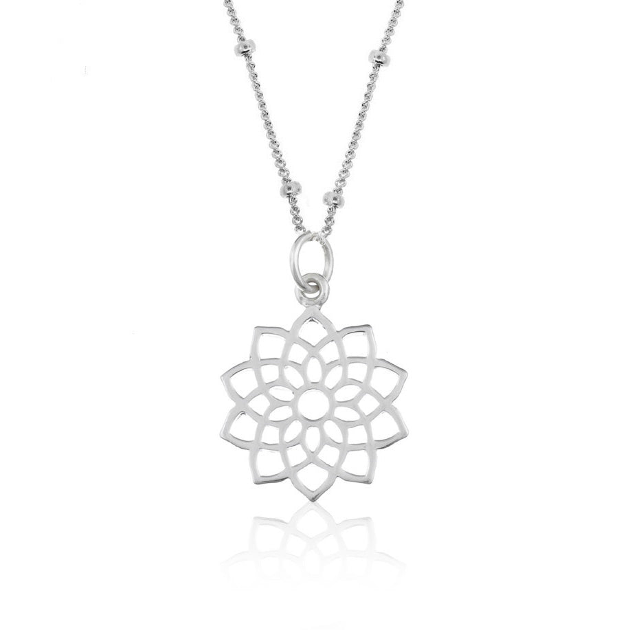 Good Charma- Lotus Mandala Crown Chakra necklace