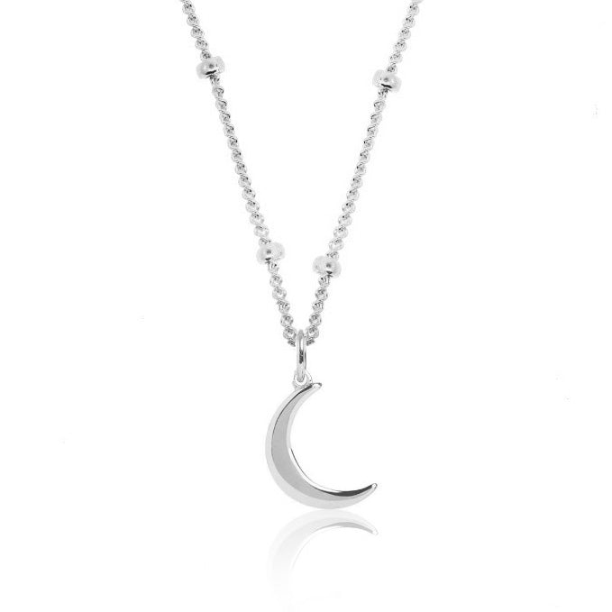 Good Charma: Tiny Moon- Sterling Silver