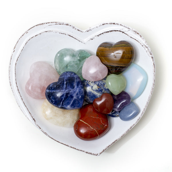 Crystal Heart Stones- Small
