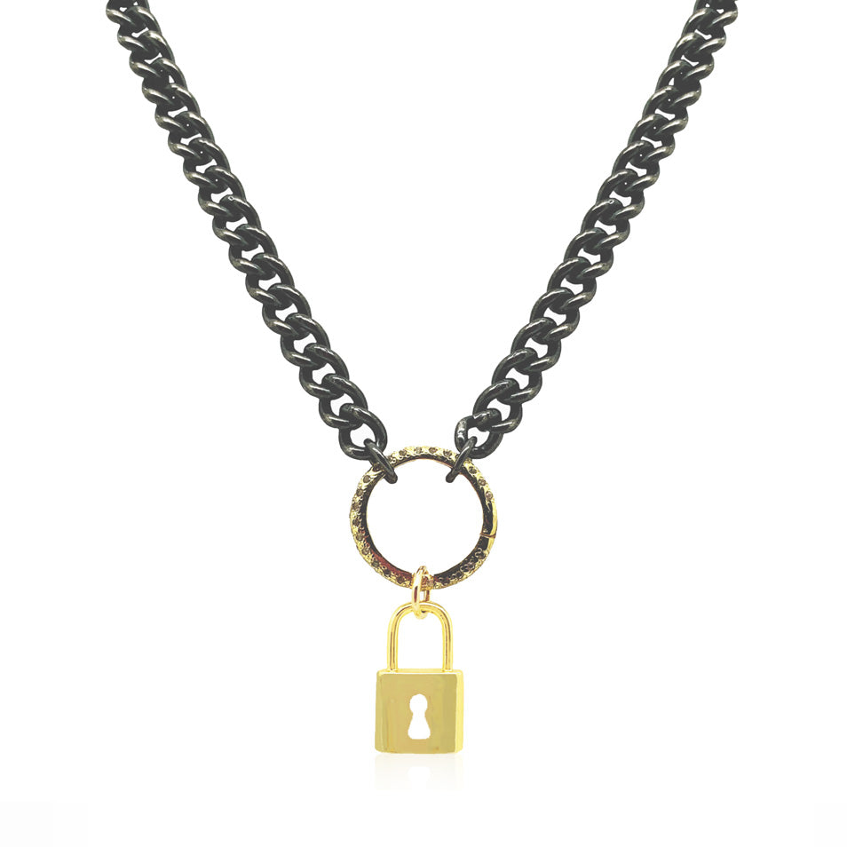 Strong Girl Chain with Clasp and Padlock