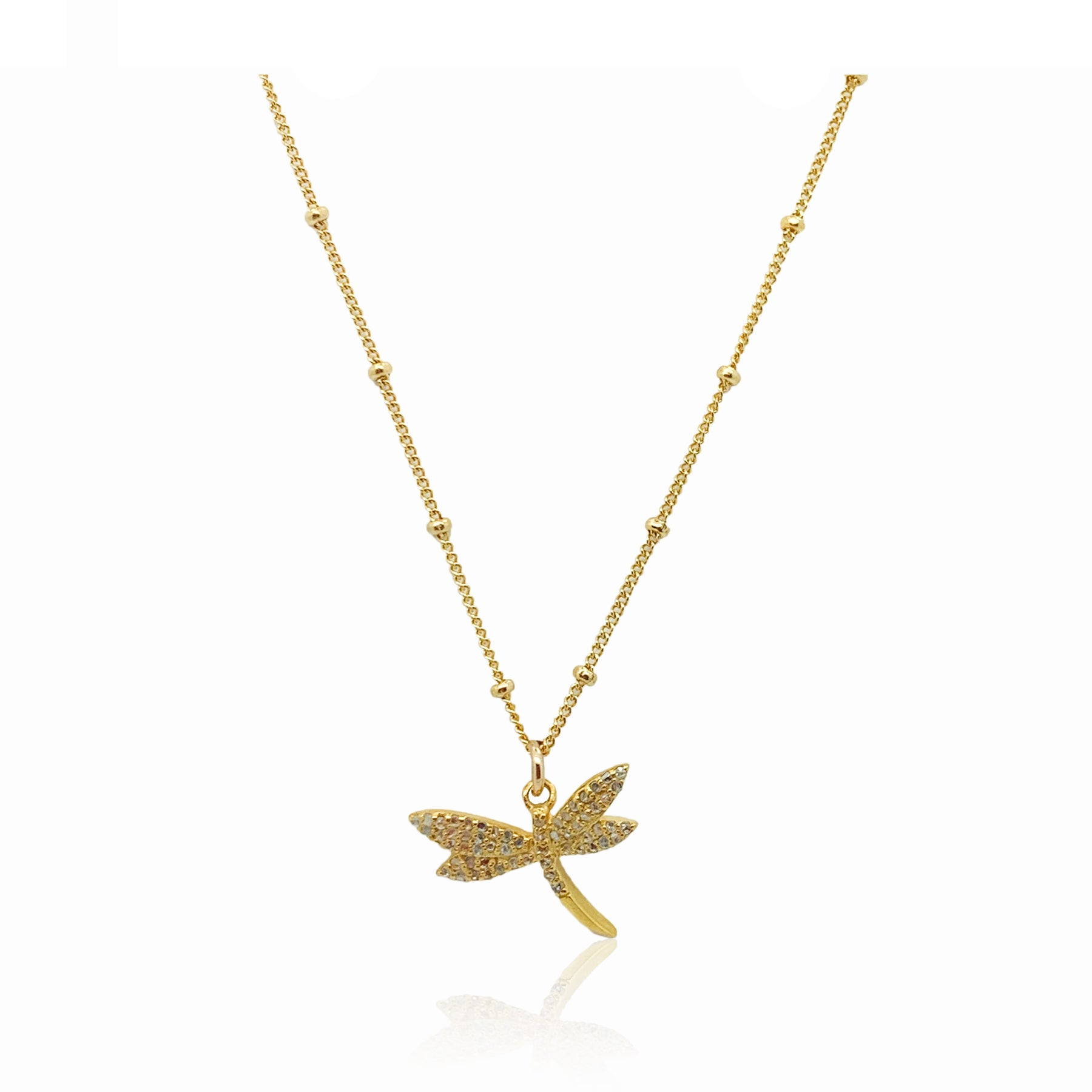 Mini Diamond Dragonfly-Gold