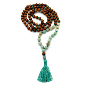 I Am Calm and I Am Strong Mala With Sandalwood