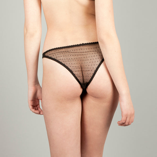 Marina Black Brazilian Brief