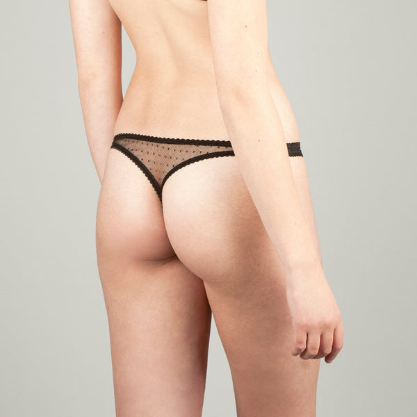 Irene Black Thong