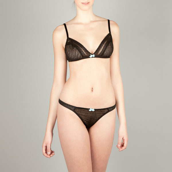 Teresa Triangle Black Bra