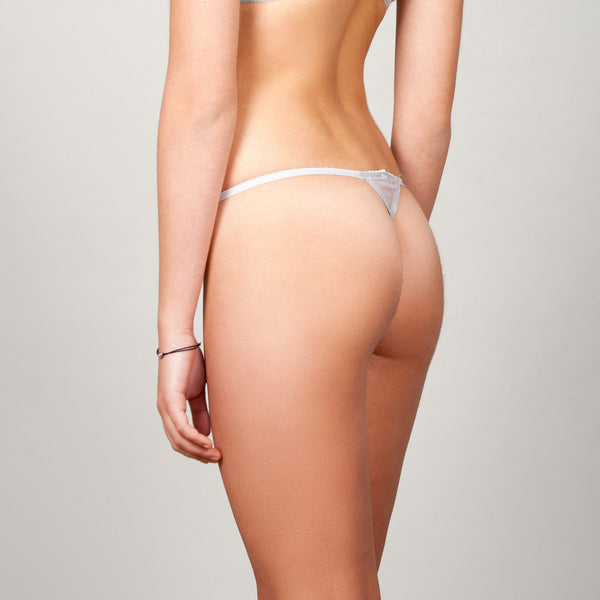 Lucia Coral Pearl Gray G-string
