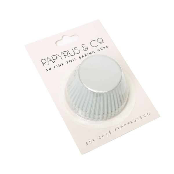 Standard WHITE Foil Baking Cups 50 Pack