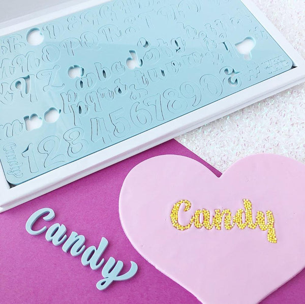 CANDY Uppercase Lowercase Numbers Symbols by Sweet Stamp