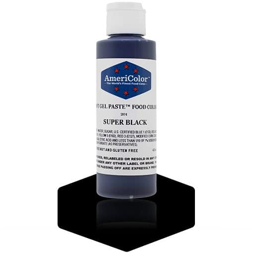 SUPER BLACK Americolor Gel Paste 4.5 oz.
