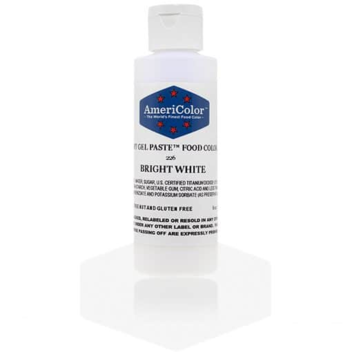 BRIGHT WHITE Americolor Gel Paste 6 oz.