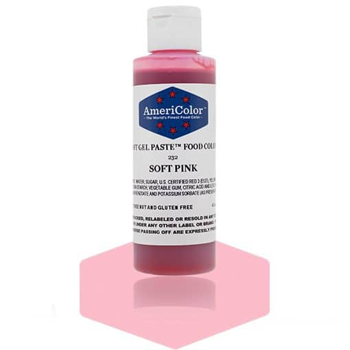 SOFT PINK Americolor Gel Paste 4.5 oz.