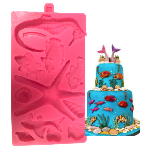 SEA ANIMAL COLLECTION Silicone Mold