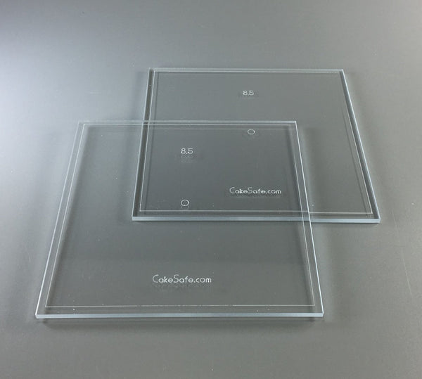 "Icing Acrylic Disk Set 8.25"" SQUARE"