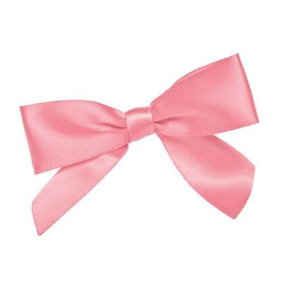 "3 1/2"" PASTEL PINK BOW TWIST TIE 10/PACK"