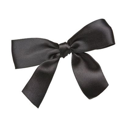 BLACK APPLE Bow Twist Ties 3.5""