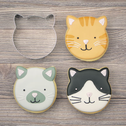 Cat Face Cookie Cutter 3 1/2""