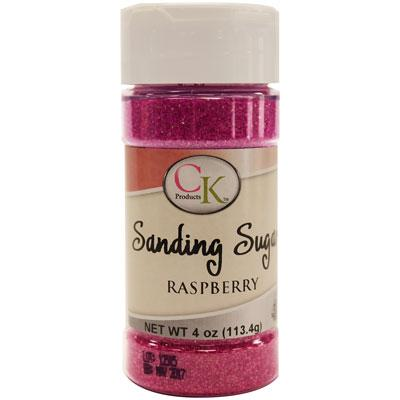 Raspberry Sanding Sugar 4oz.