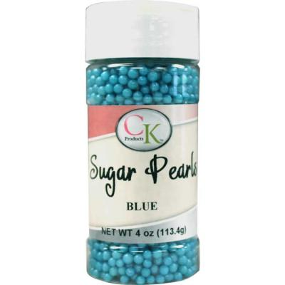 BLUE Sugar Pearls 4oz.