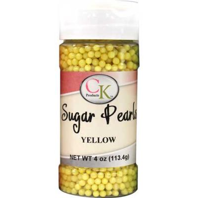 YELLOW Sugar Pearls 4oz.