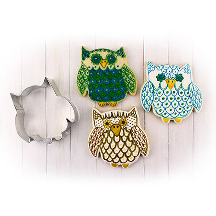 "Cute Owl Cookie Cutter 3 1/2"" x 3 1/4"""