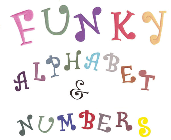 Funky Style Cutter Set - Alphabet + Numbers