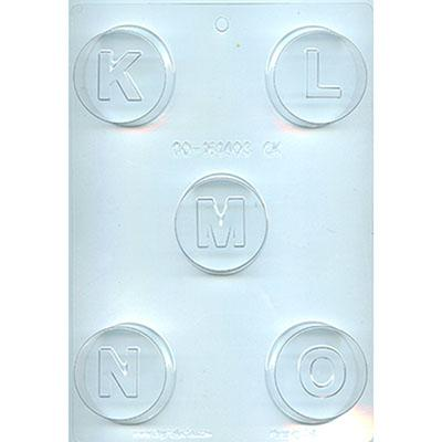LETTER K L M N O COOKIE Chocolate Mold