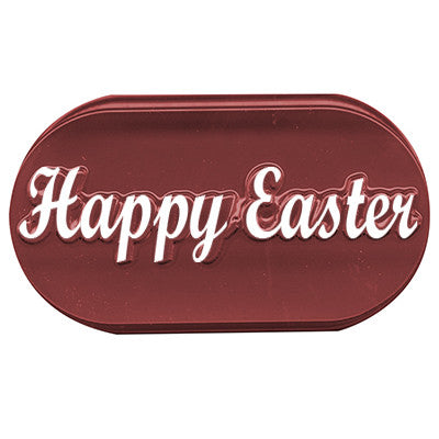 Chocolate Mold - HAPPY EASTER ELONGATED COOKIE MOLD