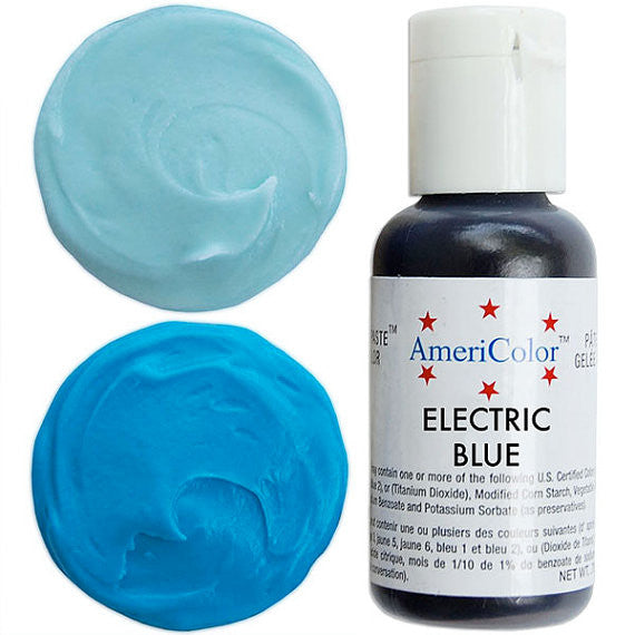 Americolor Electric Blue Soft Gel Paste Food Color .75 oz