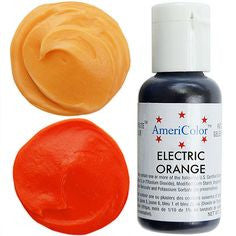 Americolor Electric Orange Soft Gel Paste Food Color .75 oz (4414583943)