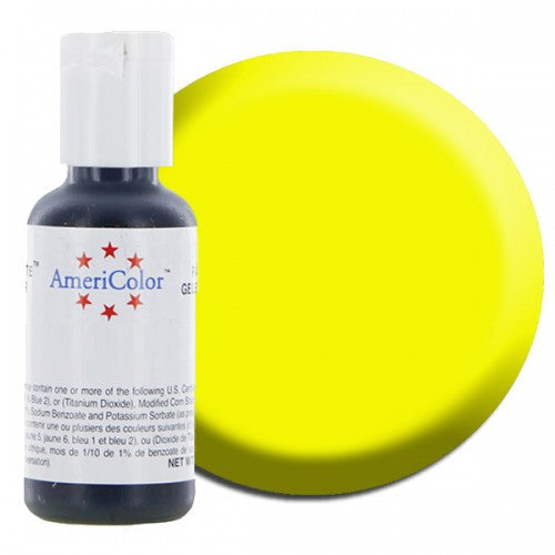 Americolor Electric Yellow Soft Gel Paste Food Color .75 oz (4414401031)