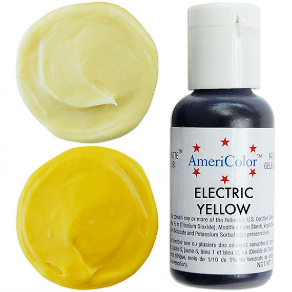 Americolor Electric Yellow Soft Gel Paste Food Color .75 oz