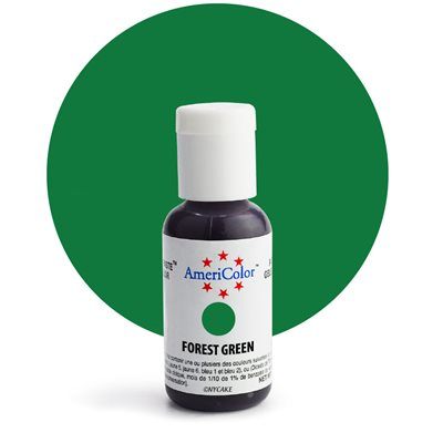 Americolor Forest Green Soft Gel Paste Food Color .75 oz