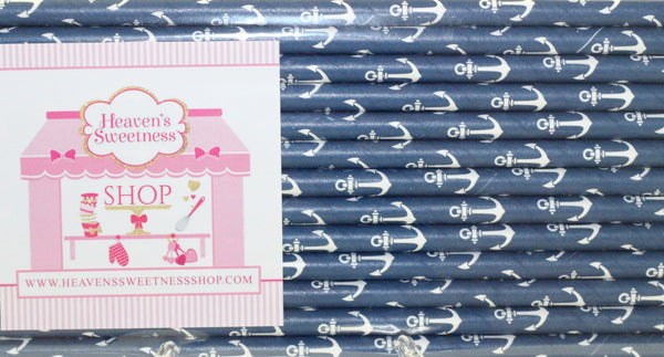 Nautical Paper Straws