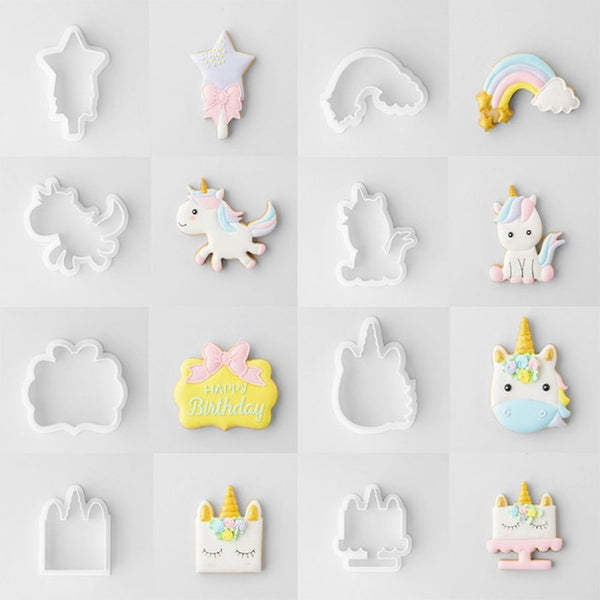 Fancy Unicorn Cookie Cutter Set
