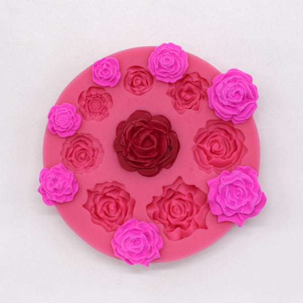 Large Rose Collection Mold