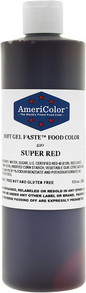SUPER RED Americolor Soft Gel Paste 13.5 oz.