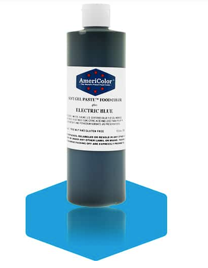 ELECTRIC BLUE Americolor Soft Gel Paste 13.5 oz.
