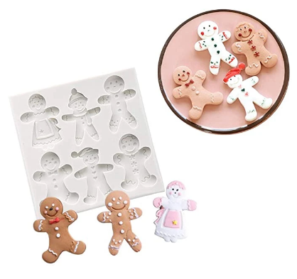 GINGERBREAD ASSORTMENT Silicone Mold