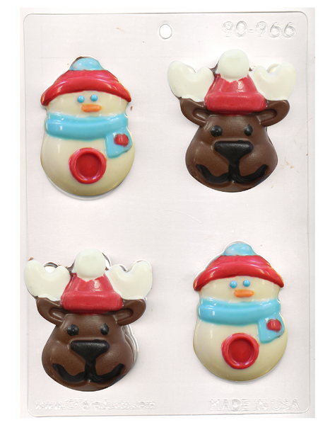 REINDEER AND SNOWMAN Chocolate Mold