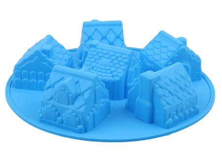 BREAKABLE GINGERBREAD HOUSE Silicone Mold