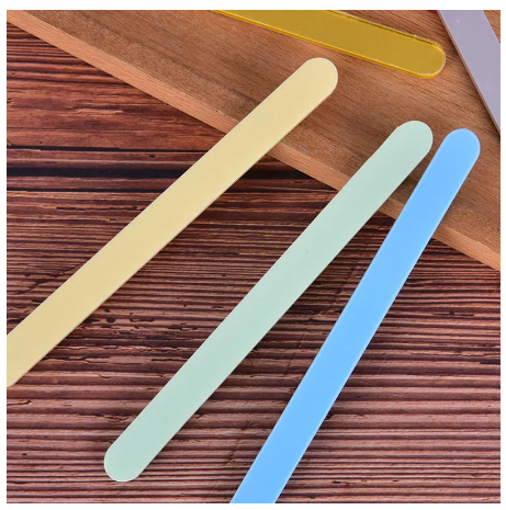 ACRYLIC COLORED Popsicle Sticks