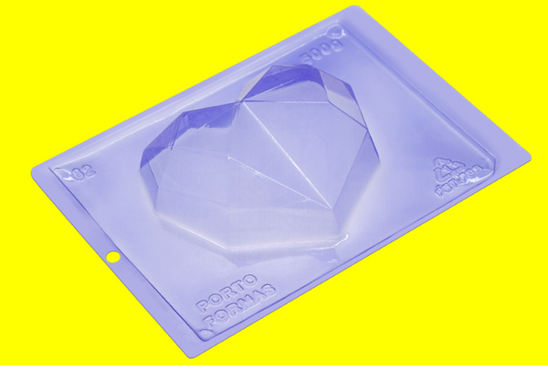 DIAMOND HEART Chocolate Mold