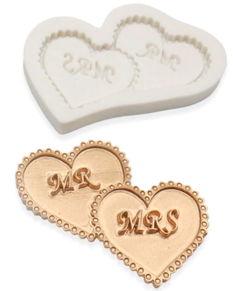 MR and MRS HEARTS Silicone Mold